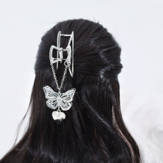 F-0841 Large Metal Hair Clips for Women Hair Catch Butterfly Pendant  Hairpins