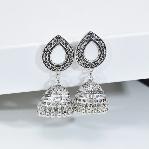 E-6018 Fashion Vintage Bohemian ethnic tassel earrings multi-layer bell mirror earrings women's trend earrings