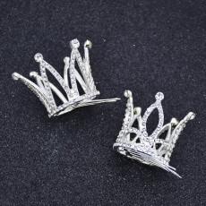 F-0851 Cute Little Girls Crown Hair Combs Kids Rhinestone Mini Tiaras Party Hair Accessories Birthday Gift