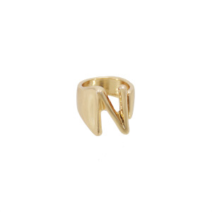 R-1540 New Trendy A-Z Letter Gold Metal Adjustable Open Rings for Women Initials Name Alphabet Female Party Fashion Jewelry