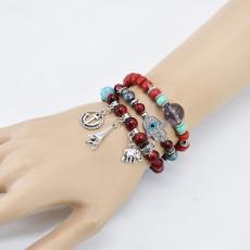 B-1094 Fashion Wedding Stacking Beaded Bracelet Set Stretchy Bead Bracelet Set Charm For Girls And Women Jewelry