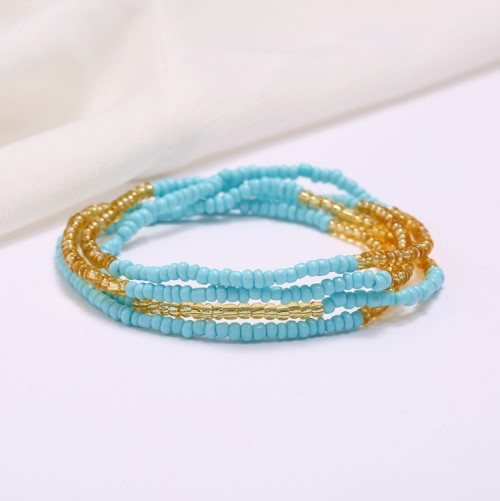 N-7470 31 Colors Beaded Waist Chain Color Dance Chain for Women Jewelry Design