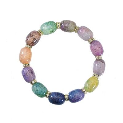 B-1097 Four colors bohemian acrylic beads tassel bracelet, ladies fashion gemstone bracelet