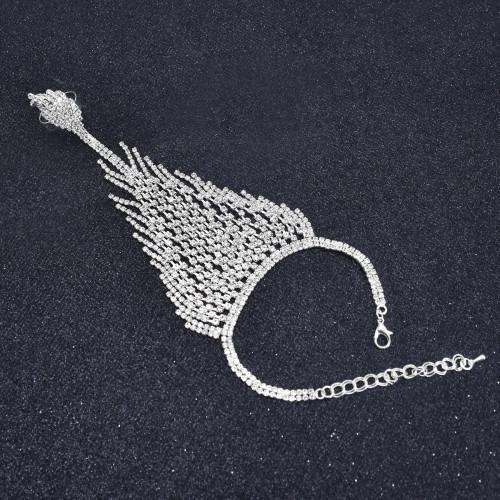 B-1098 Full Shinning Rhinestone Bracelet Handchain for Wedding Brides