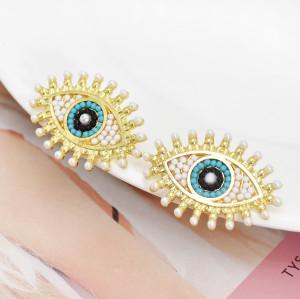 E-6059 2021 new earrings ladies pearls high-quality temperament thin angel eyes earrings fashion jewellery