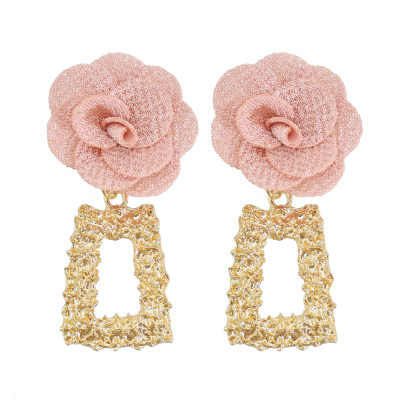 E-6064 Romantic Flower Geometric Drop Earrings for Women Bohemian Summer Holiday Party Jewelry Gift