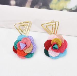 E-6065 Fashion Flower Geometric Drop Earrings for Women Bohemian Summer Holiday Party Jewelry Gift