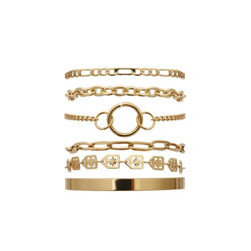 B-1101 Fashion hot sale golden ladies chain bracelet suitable for party banquet jewelry