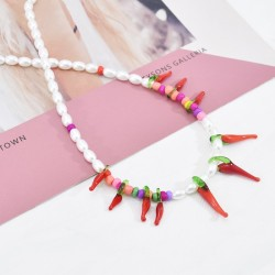N-7484 Fashion pearl chili pure white bracelet suitable for party banquet jewelry