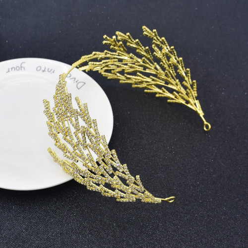 F-0863 Beautiful diamond-studded zircon fairy headbands European and American brides shiny headdress hair accessories