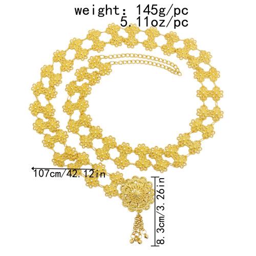 N-7492 N-7518 Bohemian Gold Metal Belly Chains Carved Flower Bikini Dance Waist Chain Festival Body Jewelry