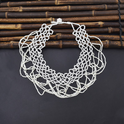 N-7493 Fashion sexy white rice bead necklace ladies clavicle decoration beautiful necklace jewelry