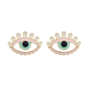 E-6075 Boho Eye Stud Earrings for Women Teen Girls  Colorful Enamel Cute Earrings Jewelry Gifts for Her