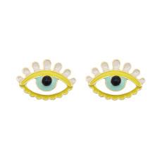 E-6075 Boho Eye Stud Earrings for Women Teen Girls  Colorful Enamel Cute Earrings Jewelry Gifts for Her