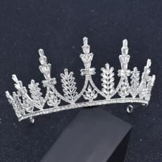 F-0870 Luxury Leaf Flower Crystal Tiaras Bridal Queen Princess Crown Wedding Party Hair Accessories