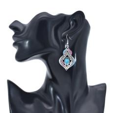 E-6091 Bohemian Earrings for Women Classic Antique Silver Plating Rhinestone Female Popular Natural dangle Flower Earrings