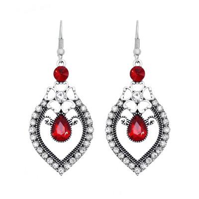 E-6096 New Fashion Geometric Flower Crystal Drop Dangle Earrings for Women Bohemian Party Jewelry Gift
