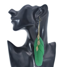E-6098 Boho Multiple Colour Feather Dangle Earrings for Women Lightweight Long Tassel  Party Jewelry Gift