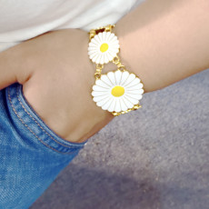 N-7525 B-1109 New Fashion Gold Metal Daisy Flower Belly Chains & Bracelet Sets for Women Bohemian Summer Beach Party Jewelry