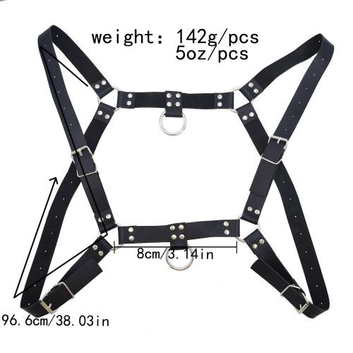 N-7531 3 styles newly arrived punk black leather bondage belt body girdle belt body chain male body sexy game jewelry
