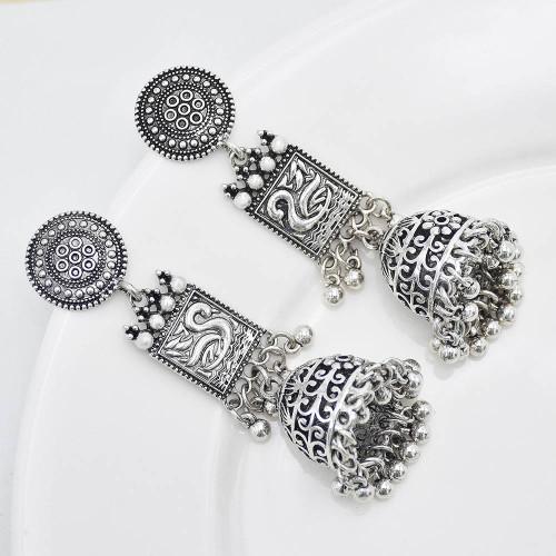 E-6122 Bohemian Style Bells Tassel Vertical Earrings Wispy Pattern Bell Earrings Suitable For Women's Wedding Party Jewelry Accessories