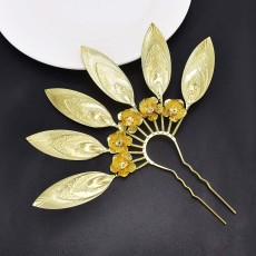 F-0888 Fashion European And American Gold And Silver Two-Color Wispy Flower Hair Accessories Bohemian Style Ladies Hair Accessories