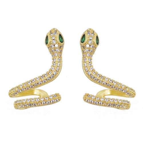E-6124 New Fashion Punk Snake Stud Earrings Vintage Exaggerated Animal Ear Cuff For Women Jewelry Gifts