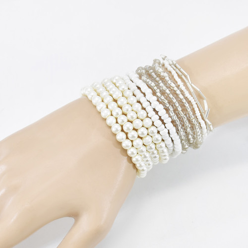 B-1113 New Trend Zircon Charm Mother of Pearl Face Heart Pendant Bracelet For Women Freshwater Pearl Bracelets