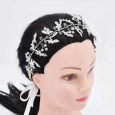 F-0889 Fashion Elegant Silver Flower Crystal Pearl Headbands Bridal Party Wedding Hair Accessories