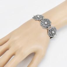 B-1118 Bohemian Style Vintage Silver Metal Gossip Bracelets for Women Gypsy Tribal Festival Party Jewelry Gift