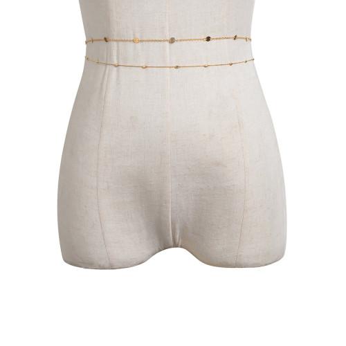 N-7557 2Pcs/Set Sexy Lady Bells Sequins Belly Waist Chains for Women Dress Bikini Summer Beach Body Jewelry