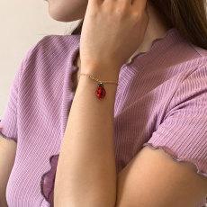 B-1123 Fashion Adjustable Ladybug Turtle Animal Charm Make Handmade Ladies Fashion Bracelets