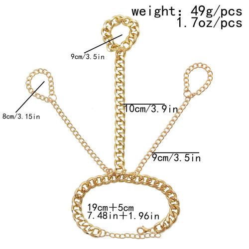 B-1125 Fashion Bohemian Gold Metal Slave Chain Finger Hand Harness Bracelets for Women Party Punk Jewelry