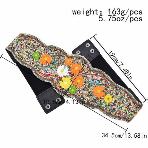 N-7565 Ethnic Bohemian Daisy Resin Beads Belly Waist Chains for Women Dress Belt Waistbands Handmade Jewelry