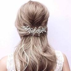 F-0911 Luxury Bridal Leaf Flower Pearl Crystal Combs Headbands for Women Wedding Hair Accessories