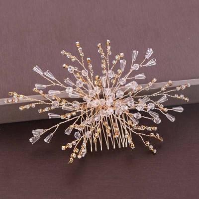 F-0905 Bridal Leaf Flower Crystal Hair Combs Hair Pins Wedding Engagement Headdress Hair Accessories