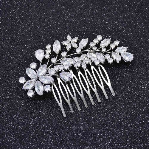F-0913 Fashion Bridal Zircon Crystal Flower Hair Combs Hair Pins Wedding Engagement Headdress Hair Accessories