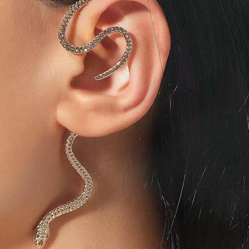 E-6206 1PC Punk Snake Earing Clips No Pierced Clip on Earrings Ear Cuffs for Women Men Party Jewelry