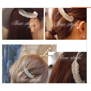 New Fashion European Popular Retro Carving Big Leaves Crystal Hair Clip Hair Accessory