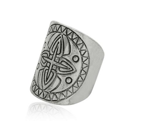 R-1266 New European Fashion Silver Plated Carved Retro Flower Ethnic Tribal Festival Finger Rings