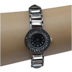 B-0844 European Watches Bangle Crystal Rhinestone Women Bracelet Quartz Watch Casual Wristwatch