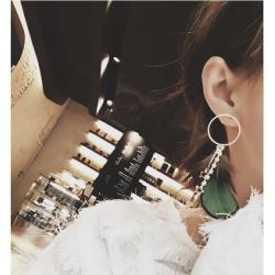 E-4060 2 Style Fashion Women Jewelry Drop Dangle Diamante Star Pendant Feather Charm Earring