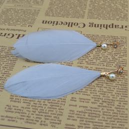 E-4072 2 Colors Bohemian Gold Earring Feather Tassel Chain Dangle Long Earrings for Women Jewelry
