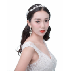 F-0405 * 2 Colors Silver Gold Fashion Bohemian Charm Crystal Rhinestone Pearl Wire Hairband for Women Jewelry