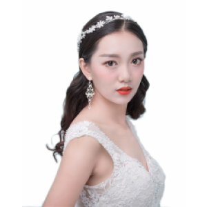 F-0405 2 Colors Silver Gold Fashion Bohemian Charm Crystal Rhinestone Pearl Wire Hairband for Women Jewelry