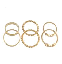 R-1437 Fashion Gold 6pcs/set 7pcs/set Vintage Joint Knuckle Nail Midi Ring Set Jewelry