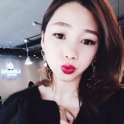 E-4081 Korea Style Gold Plated Star Heart Shape Dangle Drop Earrings