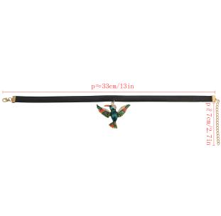 N-6794 3 Styles Bird Collar Leather Chain Statement Choker  Necklace Pendants
