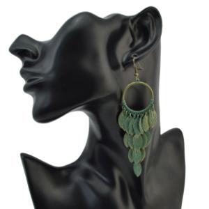 E-4101 New Arrival Leaf Bronze Plated Dangle Drop Earrings For Women Jewelry
