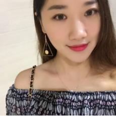 E-4105 3 Colors Korea Style Gold Plated Triangle Shape Dangle Drop Earrings